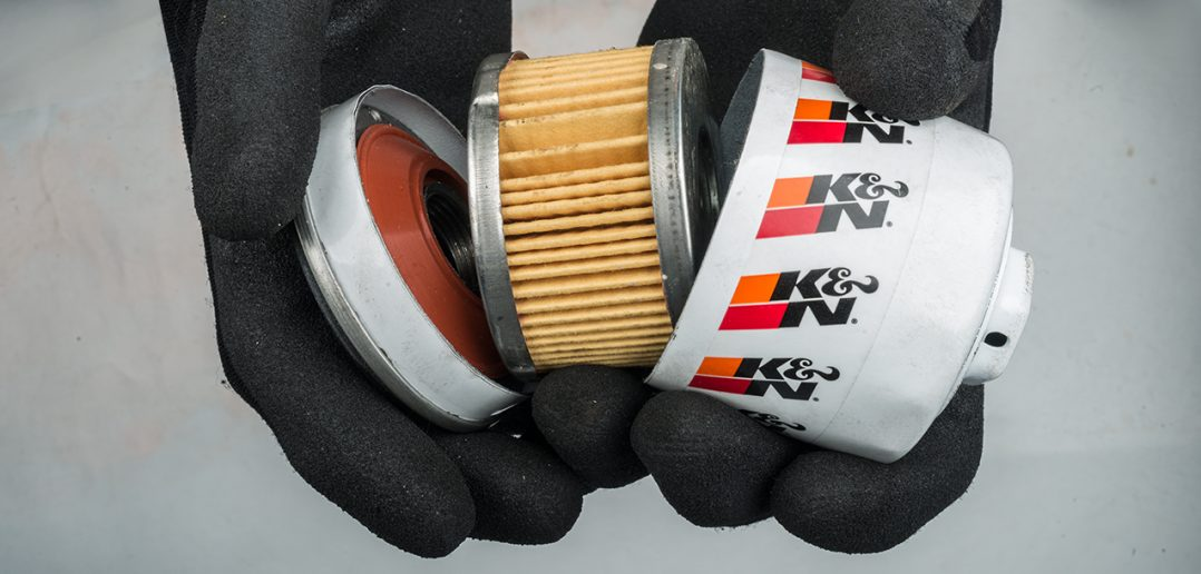 Oil filter cut